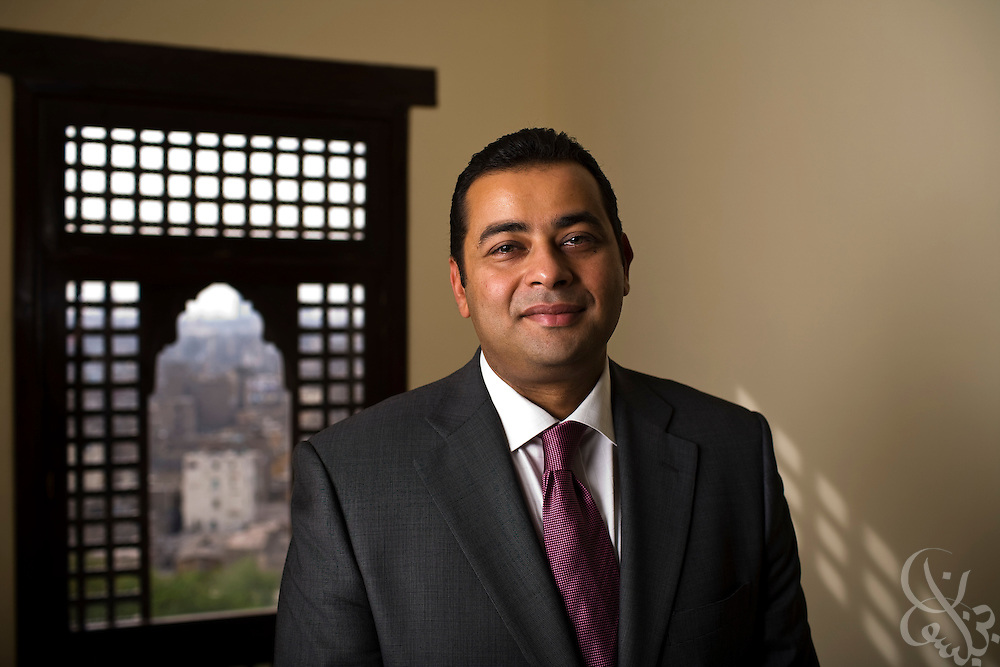 Tamer El Mahdy, Chief Technology Officer for Orascom telecom, poses for a portrait in Al Azhar Park in Cairo, Egypt April 09, 2008.