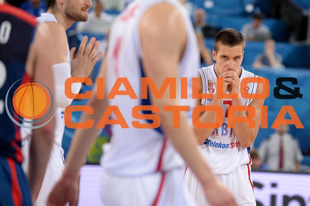 DESCRIZIONE : Lubiana Ljubliana Slovenia Eurobasket Men 2013 Second Round Serbia Francia Serbia France<br /> GIOCATORE : Bogdan Bogdanovic<br /> CATEGORIA : Delusione<br /> SQUADRA : Serbia Serbia<br /> EVENTO : Eurobasket Men 2013<br /> GARA : Serbia Francia Serbia France<br /> DATA : 15/09/2013 <br /> SPORT : Pallacanestro <br /> AUTORE : Agenzia Ciamillo-Castoria/Max.Ceretti<br /> Galleria : Eurobasket Men 2013<br /> Fotonotizia : Lubiana Ljubliana Slovenia Eurobasket Men 2013 Second Round Serbia Francia Serbia France<br /> Predefinita :