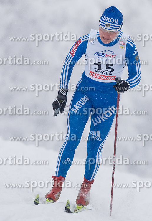 Evgenia Shapovalova of Russia at Ladies 1.4 km Free Sprint Competition of Viessmann Cross Country FIS World Cup Rogla 2009, on December 19, 2009, in Rogla, Slovenia. (Photo by Vid Ponikvar / Sportida)