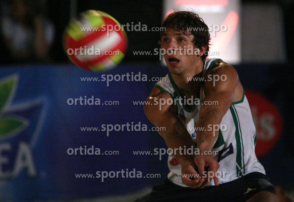 Aziz Lesnik (Js pa ti Team) at qualifications for 14th National Championship of Slovenia in Beach Volleyball and also 4th tournament of series TUSMOBIL LG presented by Nestea, on July 25, 2008, in Kranj, Slovenija. (Photo by Vid Ponikvar / Sportal Images)/ Sportida)