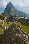 Ruins of the lost city of Machu Picchu. Located in the region of Cusco in Peru. This photo show what some archeologist think that is a kind of maquet or scale model of the ruins..Machu Picchu is one the new seven wonders of the modern world.