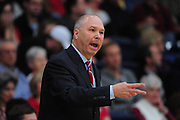 November 28, 2011; Moraga, CA, USA; Saint Mary's Gaels head coach Randy Bennett instructs during the first half of the Shamrock Office Solutions Classic championship game against the Weber State Wildcats at McKeon Pavilion.