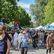 Crowds at  at Hobart's Salamanca Market