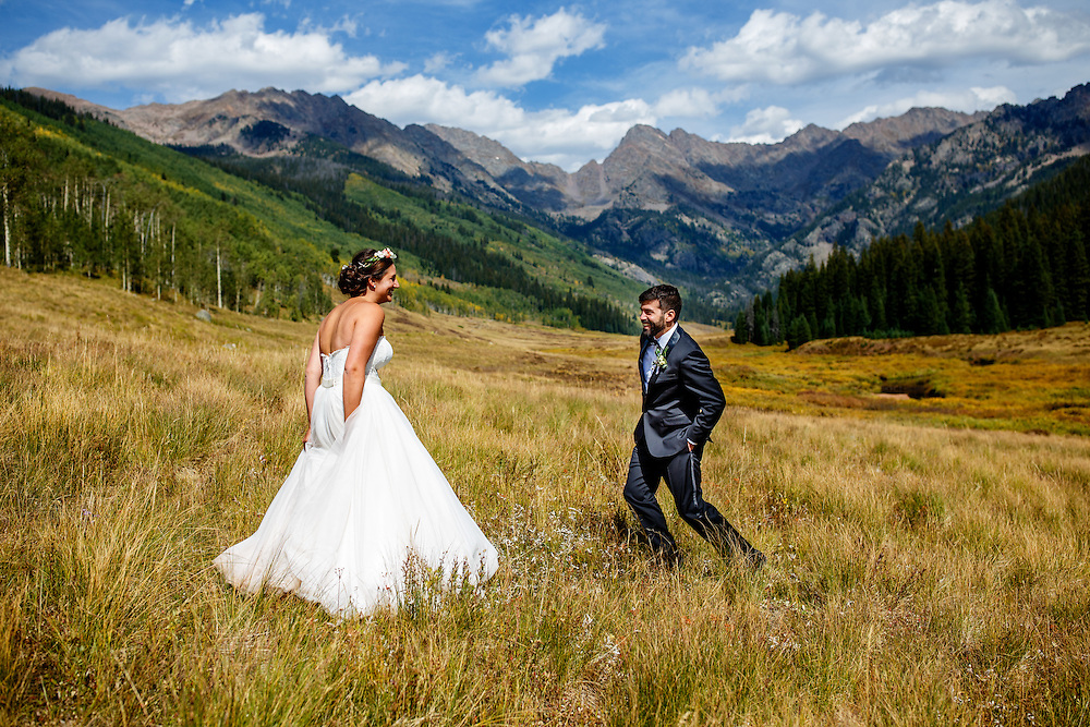 Becky Childs and Brian Burgess are married at Piney River Ranch in Vail, Friday, Sept. 9, 2016. Justin Edmonds Photography