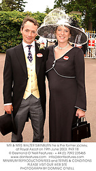 MR & MRS WALTER SWINBURN he is the former jockey, at Royal Ascot on 19th June 2003.PKR 18