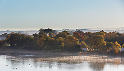 Pictured: Early morning mist on Duddingston Loch on a cold morning in Edinburgh<br /> <br /> <br /> Chris McCluskie | EEm 8 November 2017
