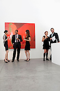 Group of people in art museum