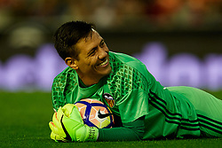April 6, 2017 - Valencia, Valencia, Spain - Diego Alves goalkeeper of Valencia CF smiles during the La Liga match between Valencia CF and Real Club Celta de Vigo at Mestalla Stadium on April 6, 2017 in Valencia, Spain. (Credit Image: © David Aliaga/NurPhoto via ZUMA Press)