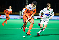 ROTTERDAM - Glenn Schuurman (NED) with Florian Fuchs (Ger)   during  the Pro League hockeymatch men, Netherlands- Germany (0-1). )  WSP COPYRIGHT  KOEN SUYK