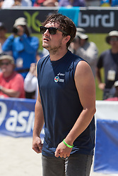 Long Beach, CA - Josh Hutcherson, star from the HUNGER GAMES, play in a celebrity volleyball match to promote his charity, STRAIGHT BUT NOT NARROW. Photo by Wally Nell/FIVB