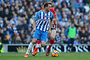 Brighton and Hove Albion midfielder Dale Stephens (6) during the Premier League match between Brighton and Hove Albion and Southampton at the American Express Community Stadium, Brighton and Hove, England on 29 October 2017. Photo by Phil Duncan.