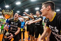 RK Gorenje Velenje after winning Slovenian cup 2019,  handball match between RK Gorenje Velenje and MRK Krka in Final of Slovenian Men Handball Cup 2018/19, on Maj 12, 2019 in Novo Mesto, Slovenia. Photo by Grega Valancic / Sportida