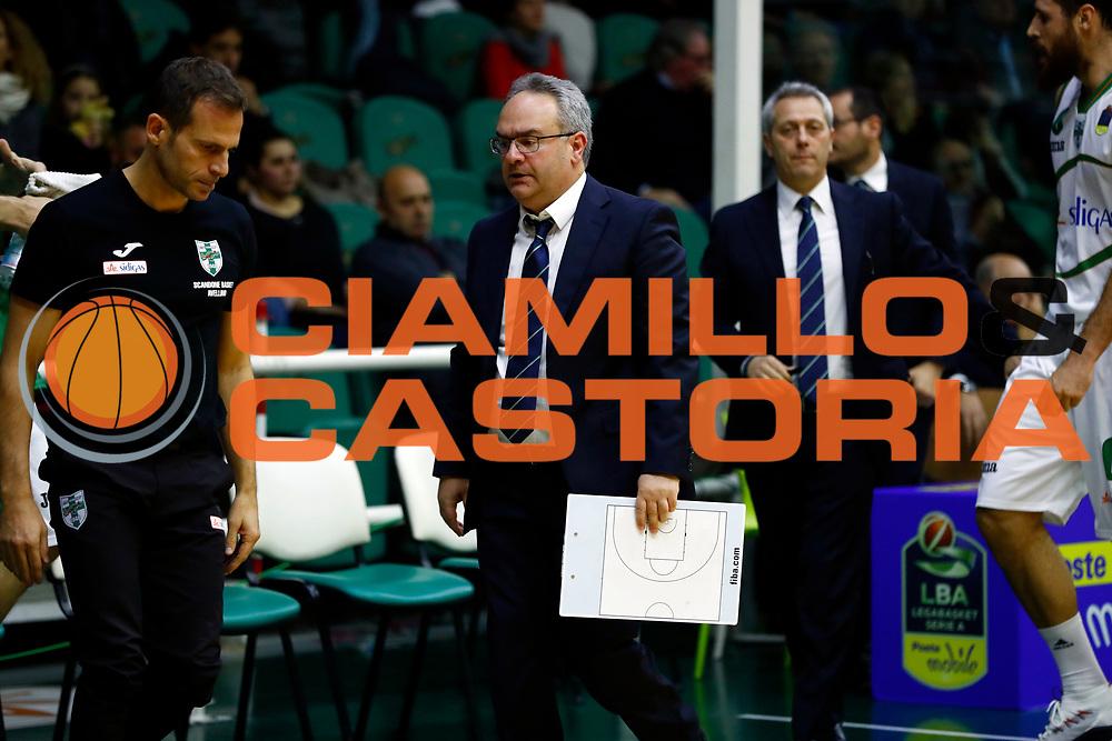 Stefano Sacripanti<br /> Sidigas Scandone Avellino - Umana Reyer Venezia<br /> Lega Basket Serie A 2017/2018<br /> Avellino, 02/12/2017<br /> Foto Alfredo De Lise / Ciamillo - Castoria