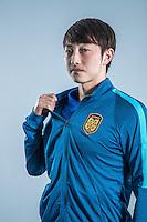 Portrait of Chinese soccer player Chen Ji of Jiangsu Suning F.C. for the 2017 Chinese Football Association Super League, in Nanjing city, east China's Jiangsu province, 27 February 2017.