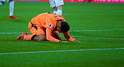 LONDON, ENGLAND - Saturday, November 4, 2017: Liverpool's Roberto Firmino looks dejected after missing a chance against during the FA Premier League match between West Ham United FC and Liverpool FC at the London Stadium. (Pic by David Rawcliffe/Propaganda)