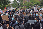 Hundreds of protesters gather during the Black Lives Matter protest at Queens Gardens, Hull, United Kingdom on 10 June 2020.