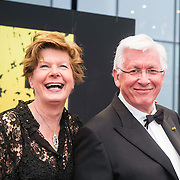 NLD/Amsterdam/20140508 - Wereldpremiere Musical Anne, Maartje van Weegen en partner Joop Daalmeijer