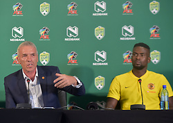 SOUTH AFRICA: JOHANNESBURG: Kaizer Chiefs coach Ernst Middendorp and the teams player Kgotso Moleko speak during the Nedbank cup press conference, Gauteng.<br /> Picture: Itumeleng English/African News Agency(ANA)<br /> 23.01.2019