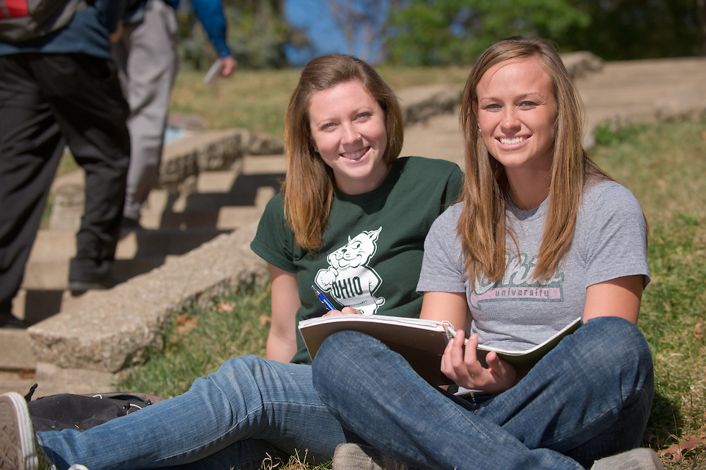 Campus shots: ..  Hannah Tangi  and Amy Swearingen(grey)