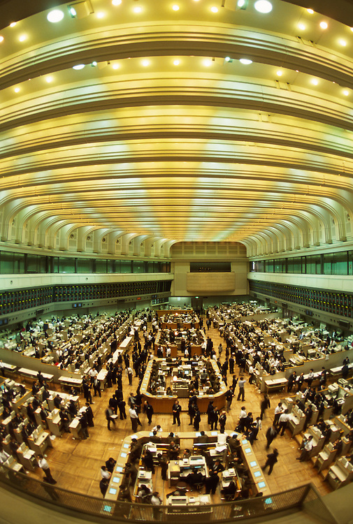 Tokyo Stock Exchange -TSE - Trading Floor. Tokyo, Japan. It is the fourth largest stock exchange in the world by aggregate market capitalization of its listed companies. It had 2,292 listed companies with a combined market capitalization of US$4.09 trillion as of April 2015.