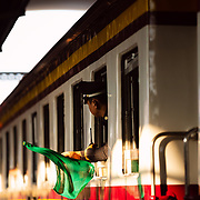 Conductor on train at  Hua Lamphong station