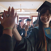 060311 Wilmington DE: Cab Calloway students high five each other as they prepare for the start of commencement exercise Friday, June 3, 2011 at The Grand Opera House In Wilmington Delaware...Special to The News Journal/SAQUAN STIMPSON