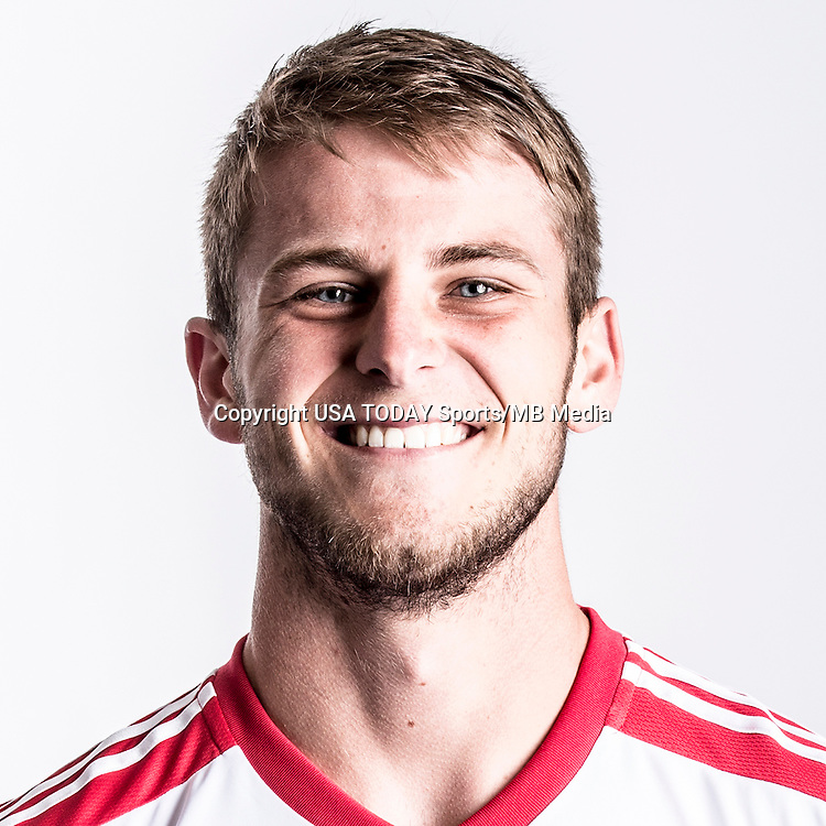 Feb 25, 2016; USA; New York Red Bulls player Zach Carroll poses for a photo. Mandatory Credit: USA TODAY Sports
