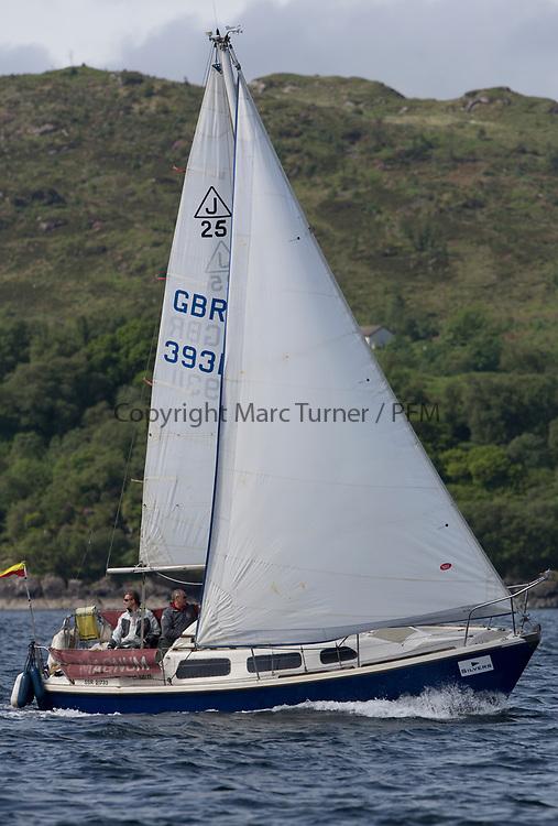 Silvers Marine Scottish Series 2017<br /> Tarbert Loch Fyne - Sailing<br /> <br /> GBR3931L, Magnum, Iain Airlie, CCC, Jaguar 25<br /> <br /> Credit: Marc Turner / CCC