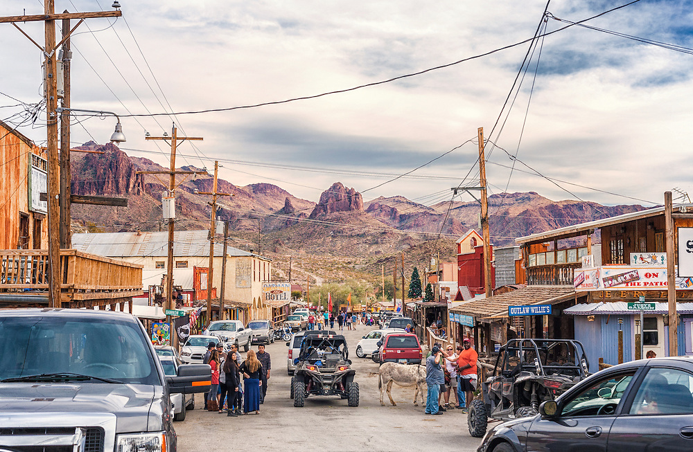 An old mining town, Oatman, Arizona.