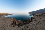 The shore of The Dead Sea is falling