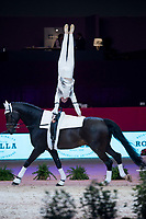 Vaulter Francesco Bortoletto and his horse Rosenstolz during Madrid Horse Week at Ifema in Madrid, Spain. November 26, 2017. (ALTERPHOTOS/Borja B.Hojas)
