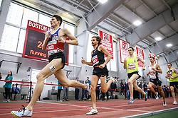 Bruce LeHane Invitational Mile<br /> Yomif Kejelcha, Ethiopia, Nike Oregon Project, breaks world record indoor mile 3:47.01<br /> HOKA NJ*NYTC