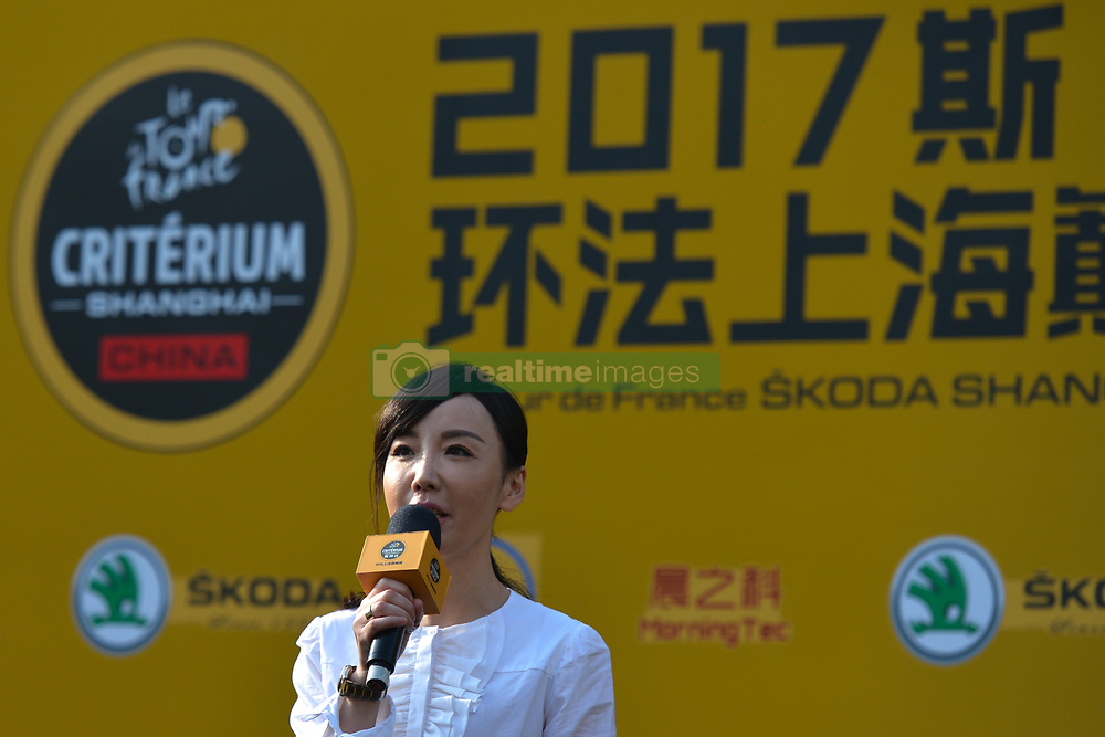 October 28, 2017 - Kathy ZHOU, the General Manager of Activation Sports speaks during the 1st TDF Shanghai Criterium 2017 - Media Day..On Saturday, 28 October 2017, in Shanghai, China. (Credit Image: © Artur Widak/NurPhoto via ZUMA Press)