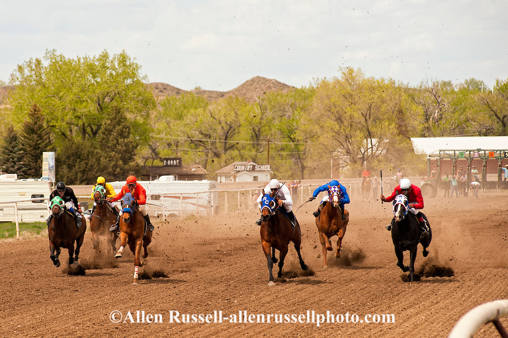 Quarter Horse Racing, Miles City, Montana