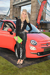 PIXIE LOTT at the launch of the new remastered Fiat 500 featuring an exclusive performance by Ella Eyre held in Potters Field Park, Southwark, London SE1 on 2nd September 2015.