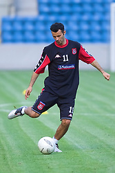 OSLO, NORWAY - Monday, September 3, 2001: Wales' Ryan Giggs during training at the Ullevaal Stadion in Oslo ahead of his side's FIFA World Cup 2002 Qualifying Group 5 match against Norway. (Pic by David Rawcliffe/Propaganda)