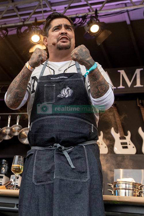 May 25, 2018 - Napa, California, U.S - Celebrity Chef AARON SANCHEZ  during BottleRock Music Festival at Napa Valley Expo in Napa, California (Credit Image: © Daniel DeSlover via ZUMA Wire)