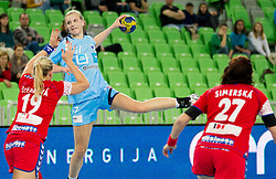 Barbara Varlec Lazovic of Slovenia during handball match between Women National Teams of Slovenia and Czech Republic of 4th Round of EURO 2012 Qualifications, on March 25, 2012, in Arena Stozice, Ljubljana, Slovenia. (Photo by Vid Ponikvar / Sportida.com)