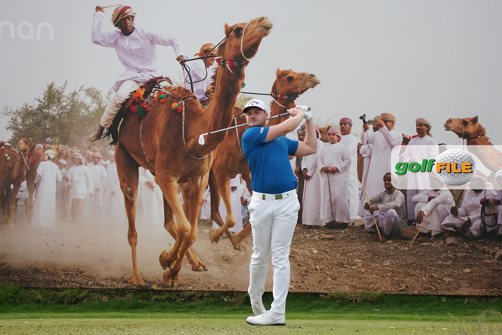 Oliver Fisher (ENG) on the 8th during Round 1 of the Oman Open 2020 at the Al Mouj Golf Club, Muscat, Oman . 27/02/2020<br /> Picture: Golffile   Thos Caffrey<br /> <br /> <br /> All photo usage must carry mandatory copyright credit (© Golffile   Thos Caffrey)