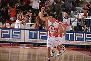 DESCRIZIONE : Teramo Lega A1 2006-07 Siviglia Wear Teramo Climamio Fortitudo Bologna <br /> GIOCATORE : Lulli <br /> SQUADRA : Siviglia Wear Teramo <br /> EVENTO : Campionato Lega A1 2006-2007 <br /> GARA : Siviglia Wear Teramo Climamio Fortitudo Bologna <br /> DATA : 22/04/2007 <br /> CATEGORIA : Esultanza <br /> SPORT : Pallacanestro <br /> AUTORE : Agenzia Ciamillo-Castoria/G.Ciamillo