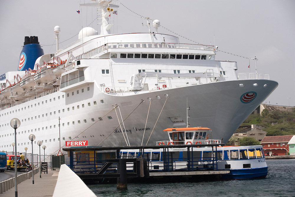 Cruise ship in harbor, Willemstaad, Curacao