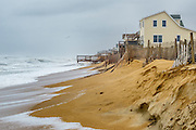Nor'easter storm at Kitty Hawk Beach on the Outer Banks of NC.