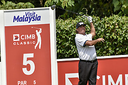October 15, 2017 - Kuala Lumpur, MALAYSIA - Pat Perez of USA in action during the CIMB Classic 2017 day 4 on October 15, 2017 at TPC Kuala Lumpur, Malaysia. (Credit Image: © Chris Jung via ZUMA Wire)