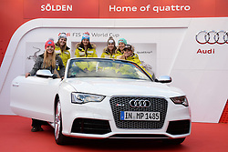 24.10.2013, Audi Lounge, Soelden, AUT, FIS Ski Alpin, Soelden, im Bild Team Switzerland and Liechtenstein during the Audi press conference prior to the alpine skiing world cup opening race at the Audia Lounge, Soelden, Austria on 2013/10/22. EXPA Pictures © 2013, PhotoCredit: EXPA/ Mitchell Gunn<br /> <br /> *****ATTENTION - OUT of GBR*****