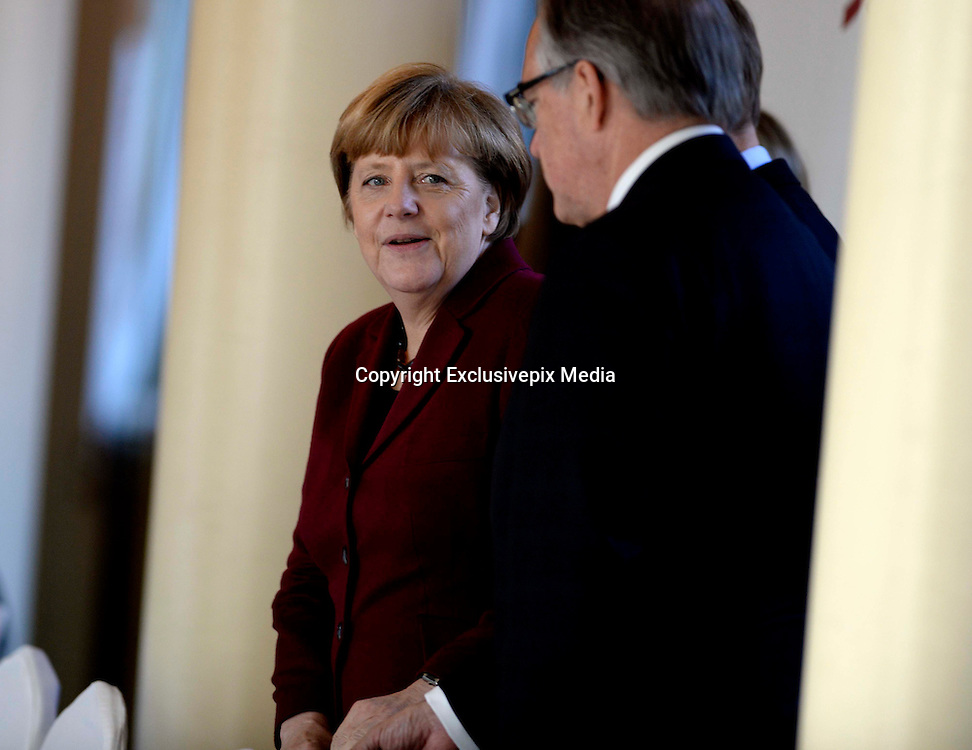 BEIJING, CHINA - OCTOBER 29: (CHINA OUT) <br /> <br /> German Chancellor Angela Merkel Visits China<br /> <br /> Angela Merkel, German politician and former research scientist who has been the Chancellor of Germany, arrives at the Former Residence of Soong Ching Ling to attend the 16th Bergedorf Round Table on October 29, 2015 in Beijing, China. German Chancellor Angela Merkel has started her eighth visit to China on Thursday and talked worldwide questions with Chinese leaders. <br /> ©Exclusivepix Media