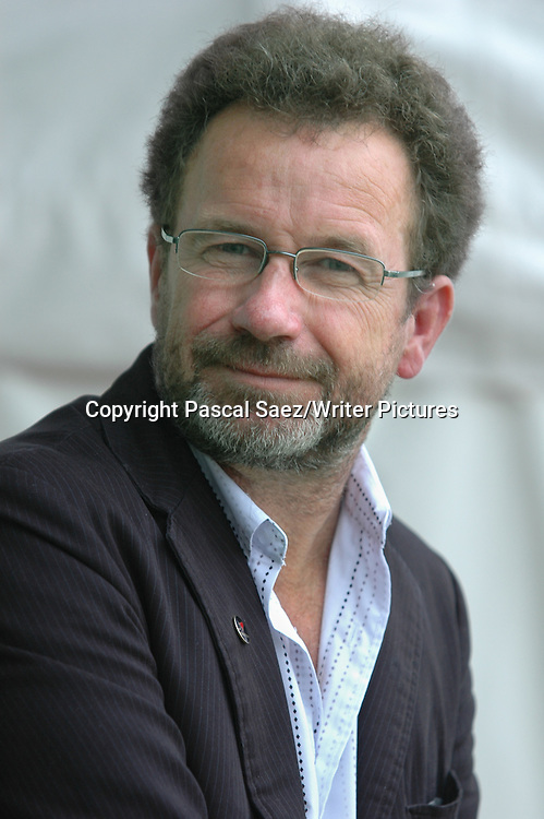Norwegian writer Per Petterson, author of &quot;Out Stealing Horses&quot;, at the Edinburgh International Book Festival.<br /> <br /> Copyright Pascal Saez/Writer Pictures<br /> <br /> contact +44 (0)20 8241 0039<br /> sales@writerpictures.com<br /> www.writerpictures.com