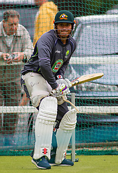 WORCESTER, ENGLAND -  July 01: Usman Khawaja during the Australian cricket team net session at New Road on  July 01, 2013 in Worcester, England. (Photo by Mitchell Gunn/ESPA)(Credit Image: © ESPA Photo Agency/Cal Sport Media/ZUMAPRESS.com)