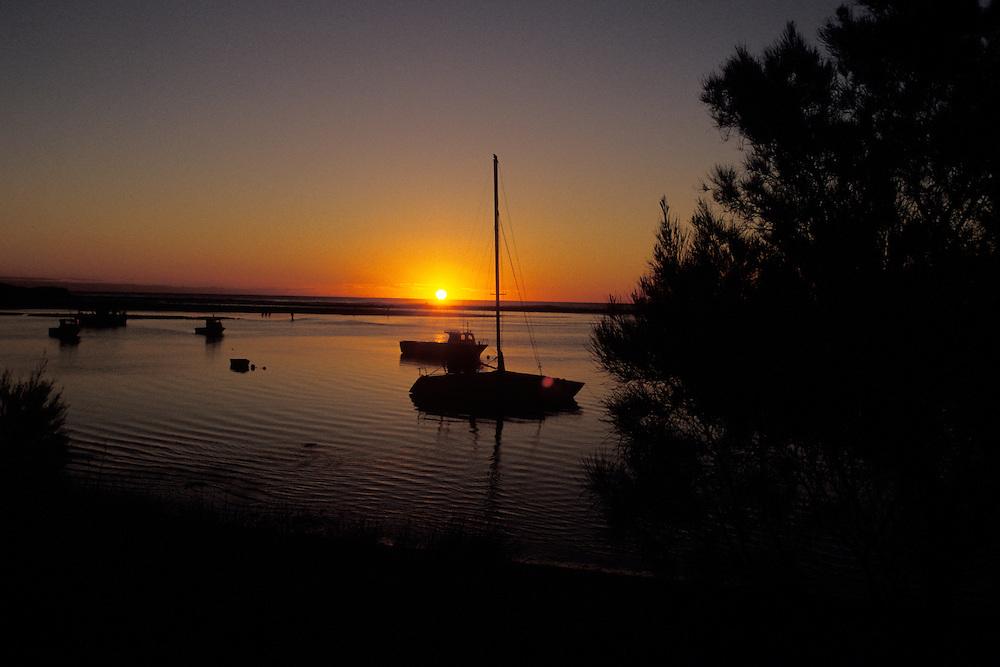 Sunset at the coastal town of Kalbarri, Kalbarri National Park, Western Australia.