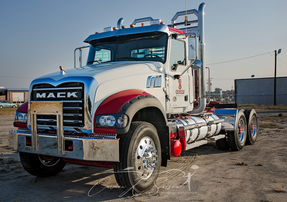 A 2017 Mack Granite is pictured at Shealy Truck Center, Nov. 16, 2016, in Columbia, S.C. (Photo by Carmen K. Sisson/Cloudybright)