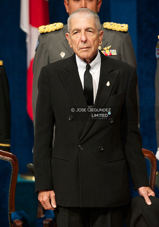 Leonard Cohen attends the 'Prince of Asturias Awards 2010' ceremony at the Campoamor Theater on October 21, 2011 in Oviedo, Spain.